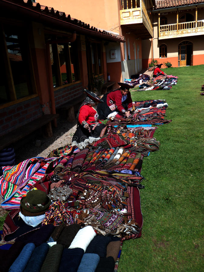 Weavers of Chinchero royalty free stock photography
