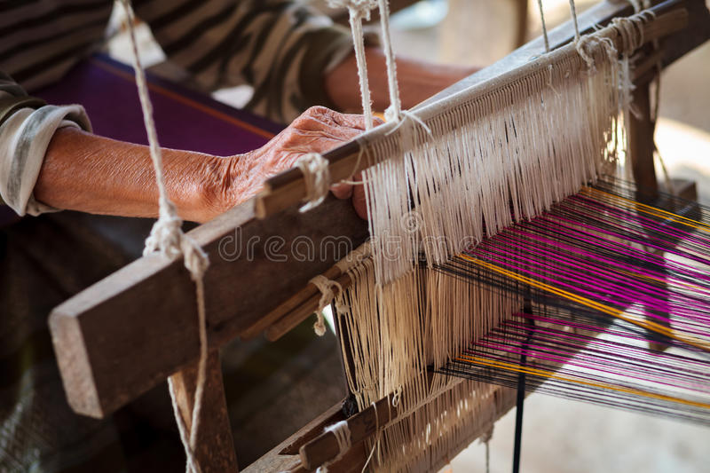 Weaving royalty free stock photography