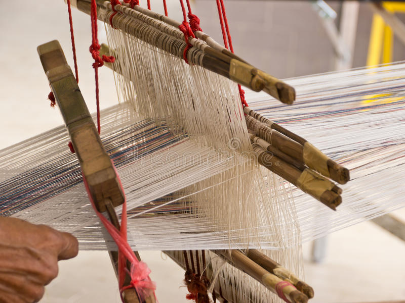 Download Weaving apparatus stock photo. Image of pattern, industry - 26368230