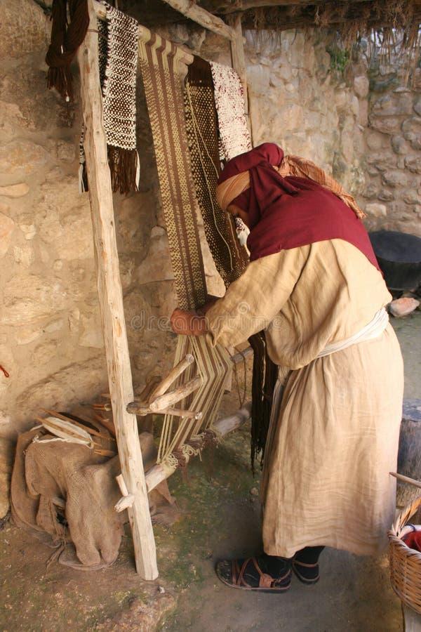 Weaving Fabric, Israel Stock Photo