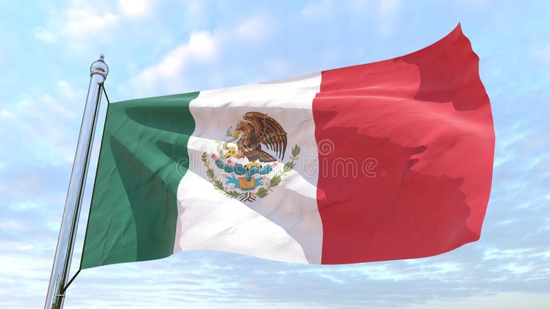 Weaving flag of the country Mexico stock illustration