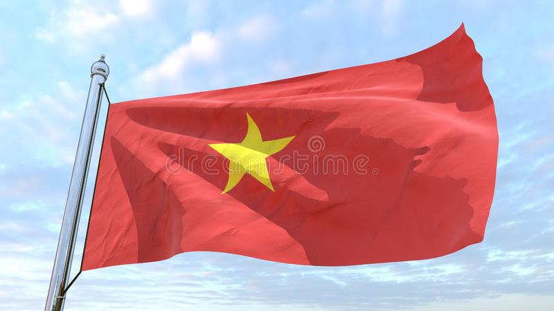 Weaving flag of the country Vietnam vector illustration