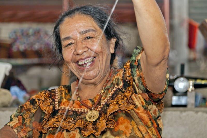 Weaving in Guatemala royalty free stock image