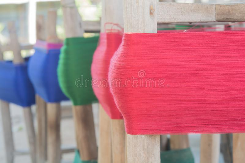 Weaving in local style royalty free stock image