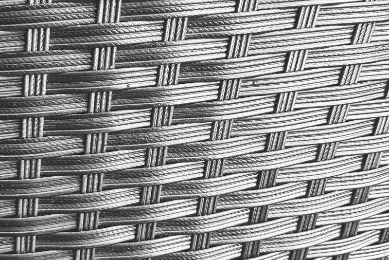 Weaving wickerwork basketry textured background : black and white shot. Blackandwhite, crisscross, art, design, pattern, backdrop, desktop, surface, decor royalty free stock image