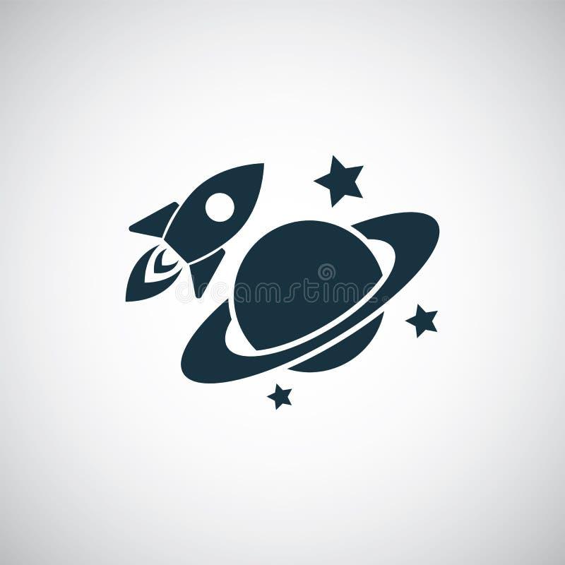 Web和UI的行星图标 库存例证