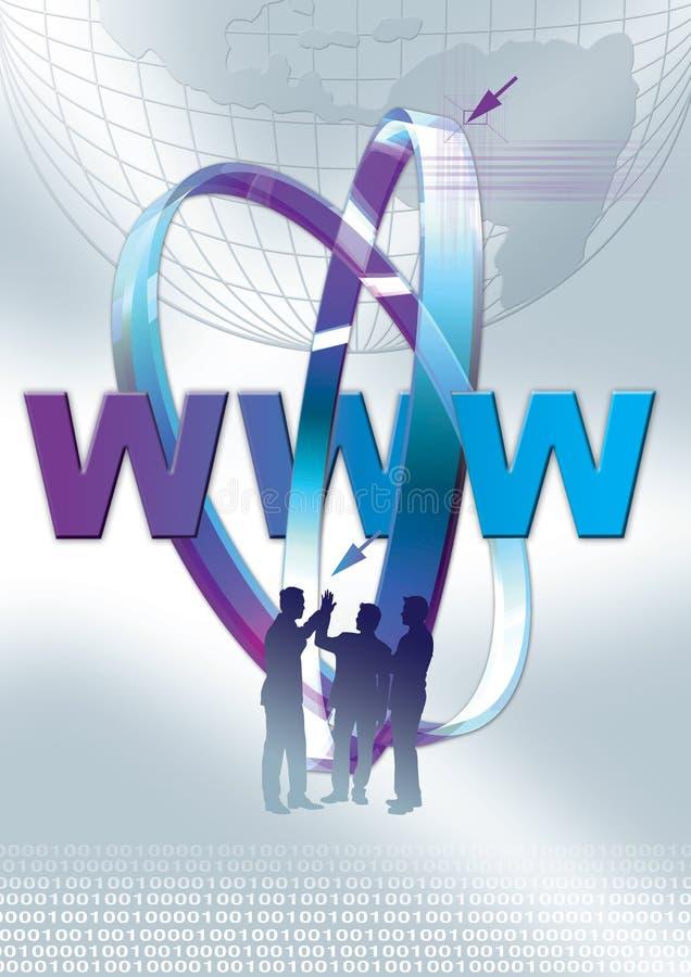 Web 1 novo ilustração royalty free