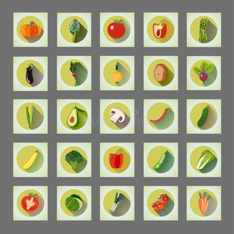 Bright graphic set of organic vegetables: potato, tomato, beetroot, shallot, eggplant, corn, carrot, pepper, avocado, asparagus. Artichoke, champignon vector illustration