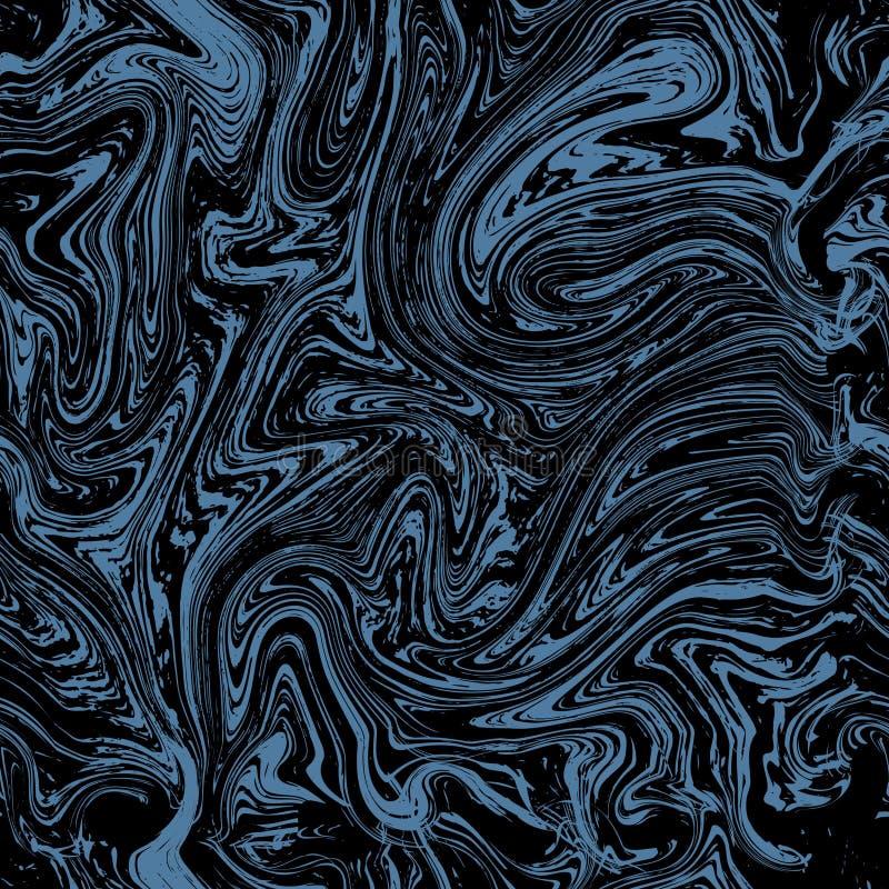 Vector marble seamless pattern. Marble blue pattern on dark background vector illustration