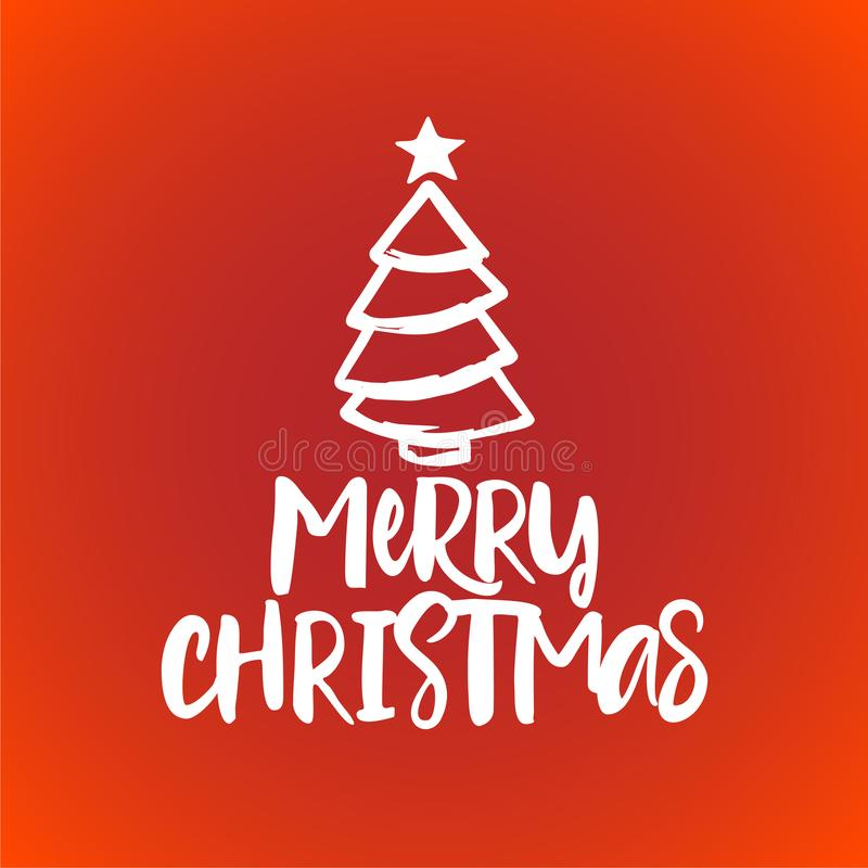 Merry Christmas - Calligraphy phrase for Christmas. royalty free illustration