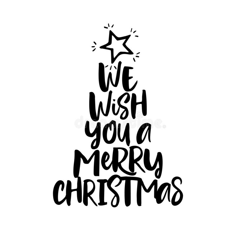 We wish you a Merry Christmas royalty free illustration