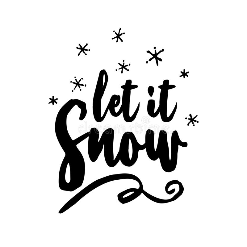 Let it snow! - Greeting card royalty free illustration