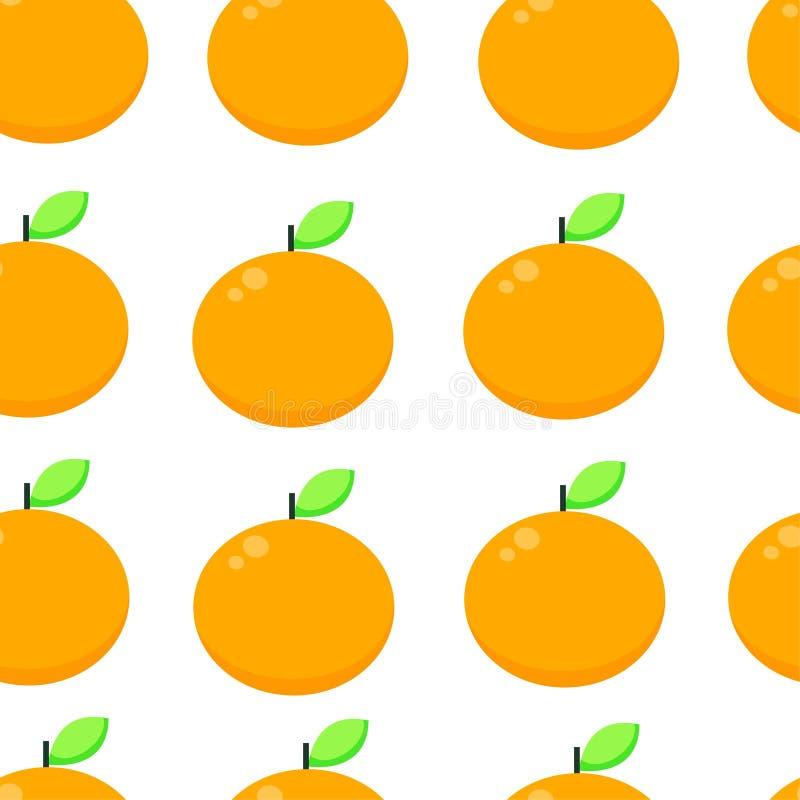 Vector seamless pattern with orange . orange background vector illustration. Vector seamless pattern with orange . orange fruit background vector illustration royalty free illustration