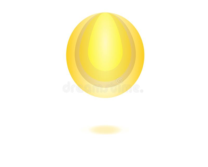 Logo icon golden oil drop vector illustration