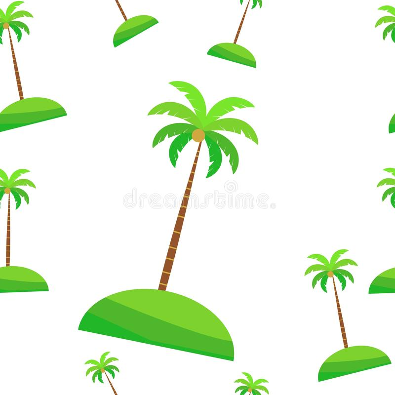 Wrapping leaves pattern. seamless vector Tropical coconut plant. nature backdrop isolated on white background. Illustration stock illustration