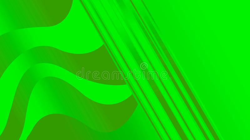 Linear figures with waves of light green and dark green colors. Illustrations stock illustration