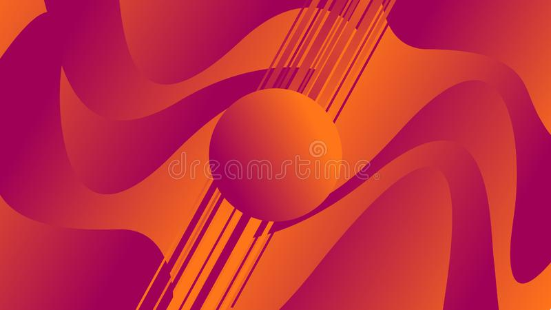 Abstract background with colorful waves with geometric figures. Illustrations royalty free illustration