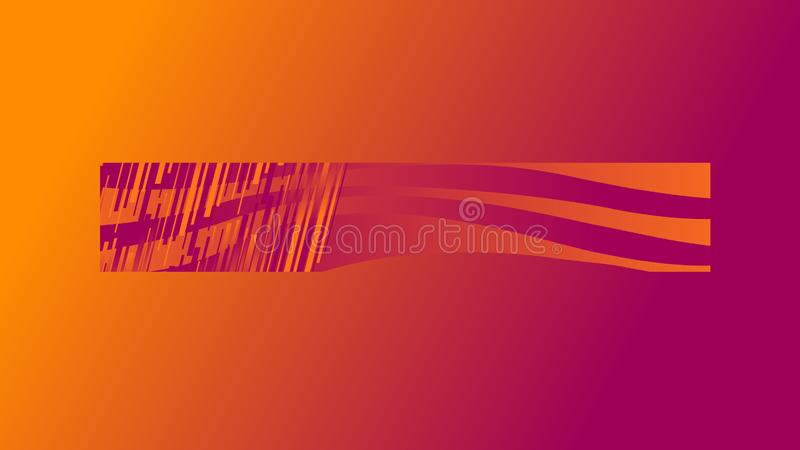 Abstract linear figures of colors with waves on an orange and violet. Illustrations vector illustration
