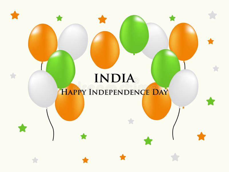 Indian independence day with ballon ornament royalty free stock photography