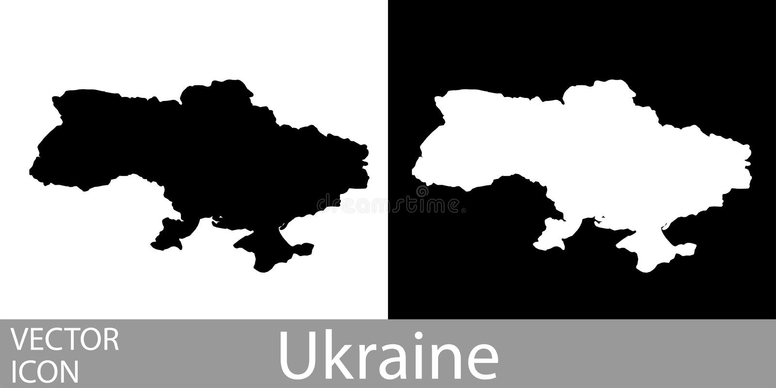 Ukraine detailed map stock illustration