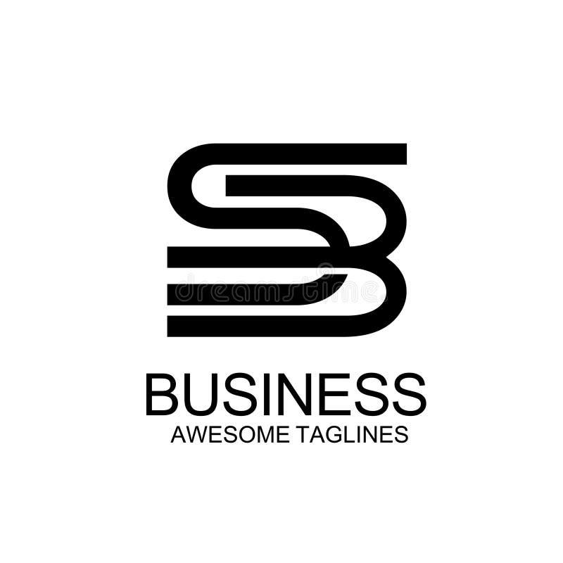Initial SB Letter monogram colors stock illustration
