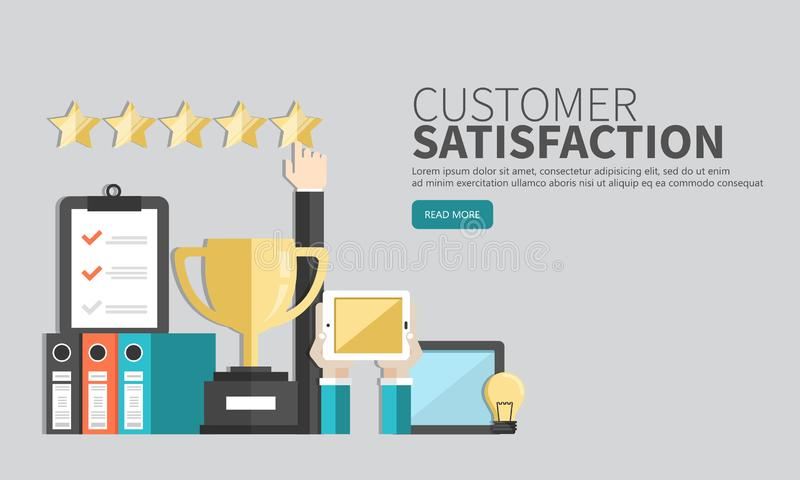 Concept of feedback, testimonials messages and notifications. Rating on customer service illustration. Flat vector stock illustration