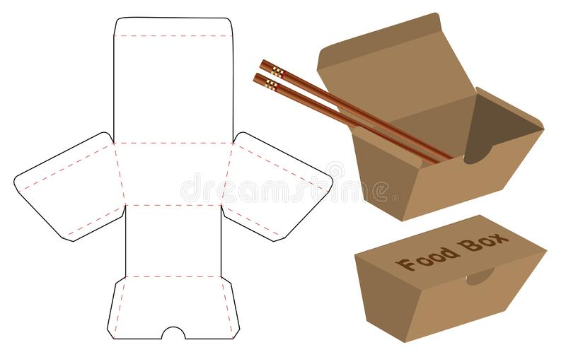 Box packaging die cut template design. 3d mock-up. A Box packaging die cut template design. 3d mock-up royalty free illustration