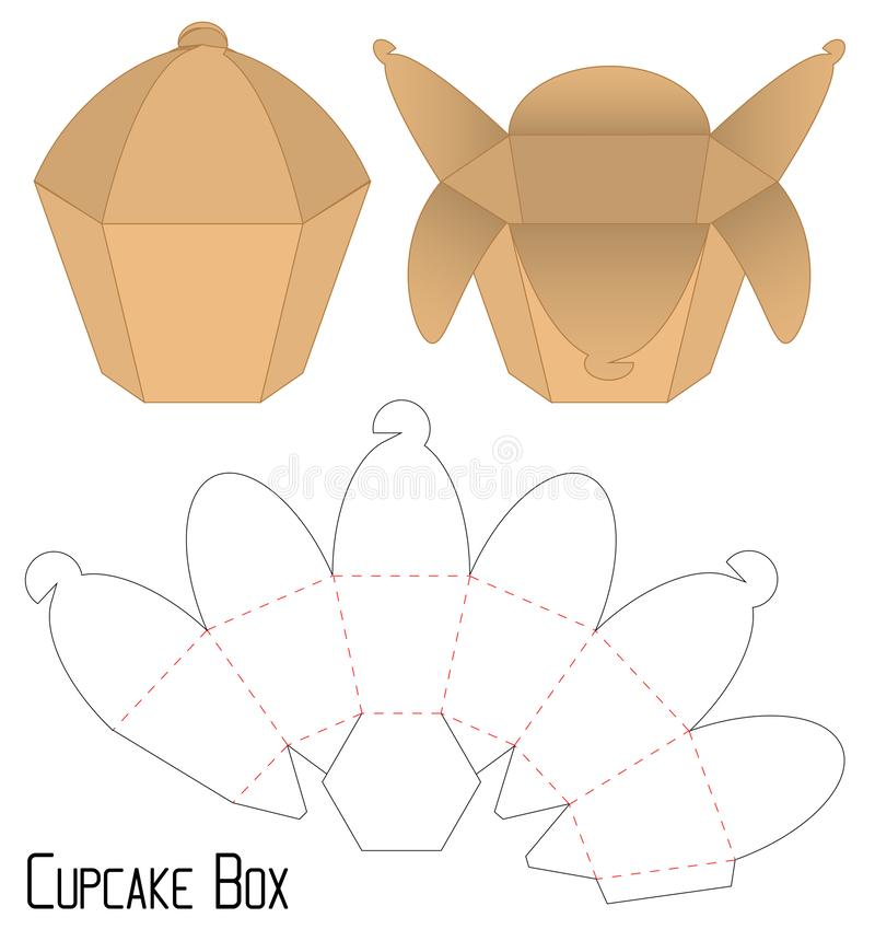 Box packaging die cut template design. 3d mock-up. A Box packaging die cut template design. 3d mock-up vector illustration
