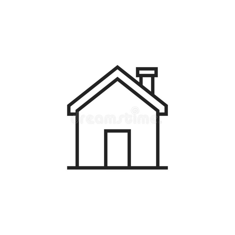 Home Oultine Vector Icon, Symbol or Logo. royalty free illustration