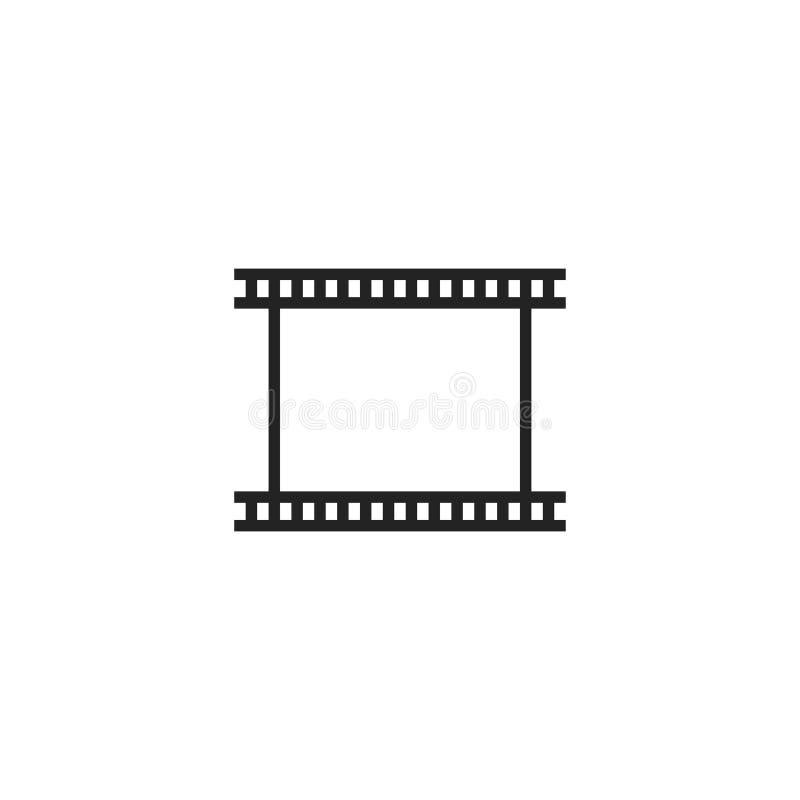 Film Tape Outline Vector Icon, Symbol or Logo. royalty free illustration