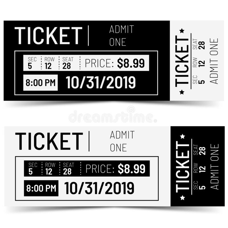 Classical realistic Ticket design. royalty free illustration