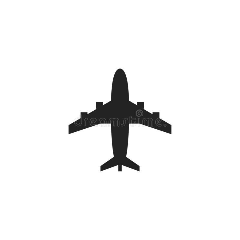 Aircraft Glyph Vector Icon, Symbol or Logo. Simple Aircraft Vector Illustration vector illustration