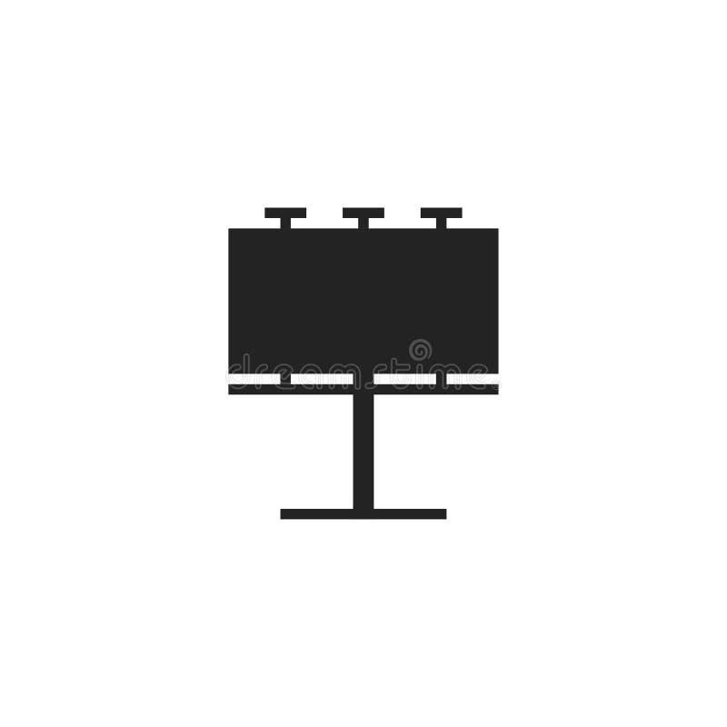 Billboard Glyph Vector Icon, Symbol or Logo. vector illustration