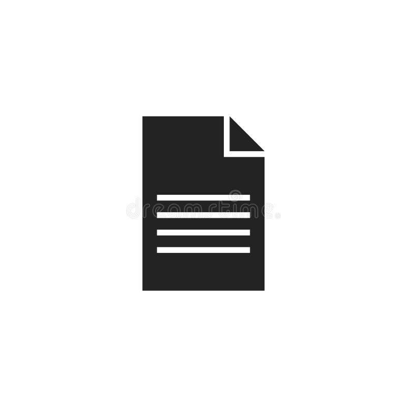 Paper Glyph Vector Icon, Symbol or Logo. Simple Paper Vector Illustration vector illustration