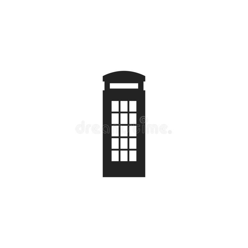 Phone Box Glyph Vector Icon, Symbol or Logo. Simple Phone Box Vector Illustration stock illustration