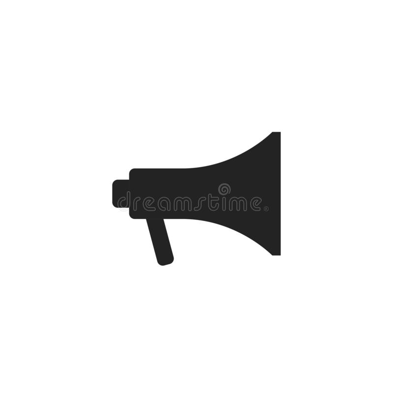 Megaphone Glyph Vector Icon, Symbol or Logo. Simple Megaphone Vector Illustration royalty free illustration