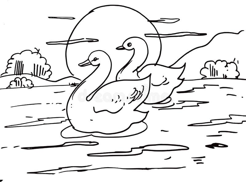 Swan Scenery Stock Illustrations 190 Swan Scenery Stock Illustrations Vectors Clipart Dreamstime