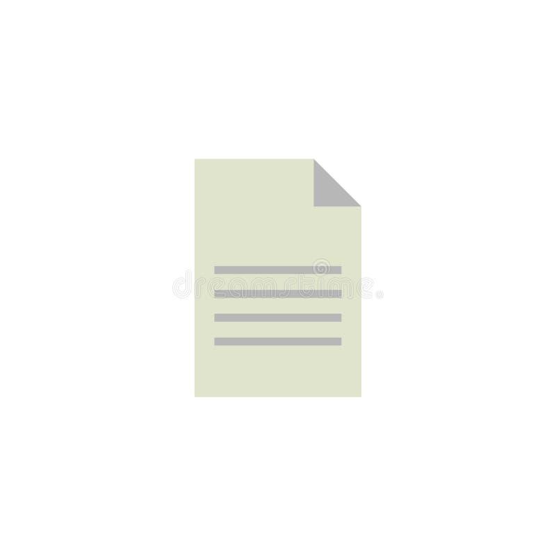 Paper Flat Icon Vector, Symbol or Logo. vector illustration