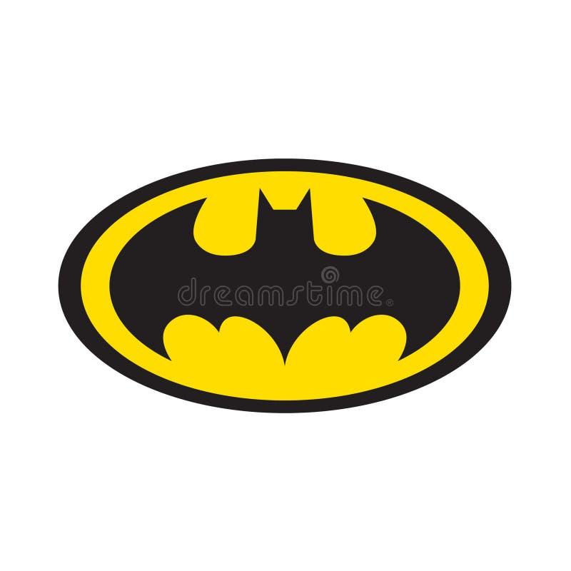 Batman Logo Vector. Editorial illustration on white background stock illustration