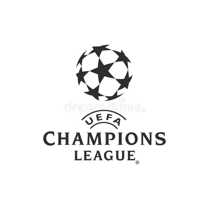 Uefa Champions League Logo. Editorial vector illustratoin on a white background vector illustration
