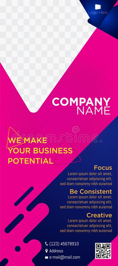 Banner business company website headers tags web commercial soft pink blue-02 stock photos
