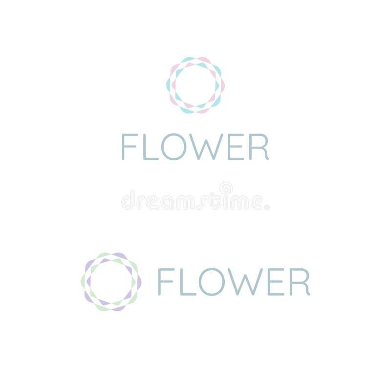 Flower logo design template for health. Vector logo design template for spa, beauty, cosmetic, nature and yoga stock illustration