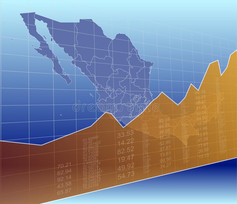 The Mexico Finance and Market, Ascending, Success.  royalty free illustration