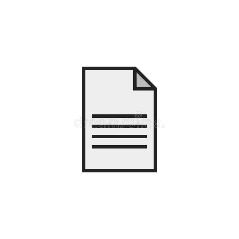 Paper Flat Icon Vector, Symbol or Logo. royalty free illustration
