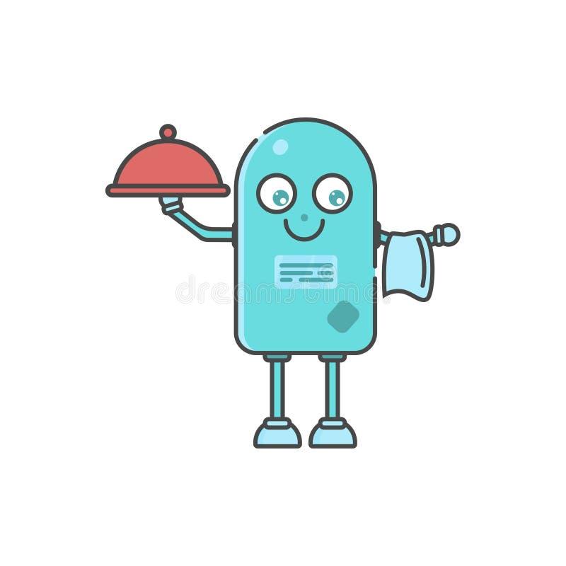 Smart robot cook  - RPA scene royalty free illustration