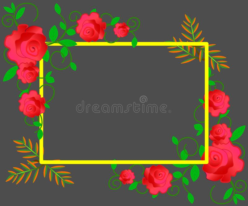 Web. Wedding invitation, thank you card, save the date cards with red, pink and white roses. EPS 10 royalty free illustration