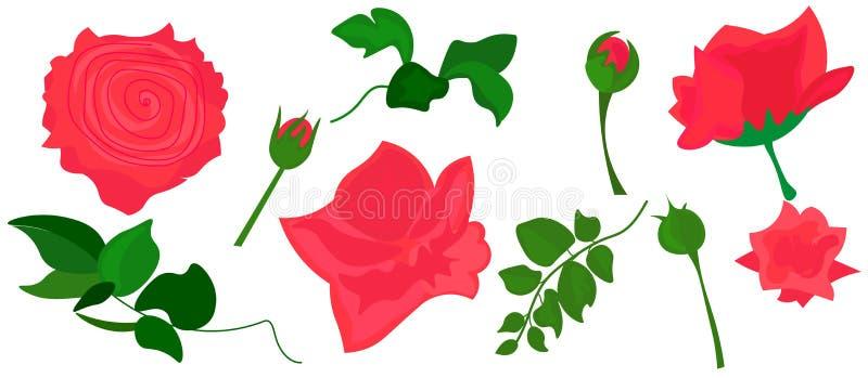 Web. Realistic Roses Vector Clip Art Pink Flower image. Realistic Roses Vector Clip Art Pink Flower image. Pink vector roses and green leave elements set vector illustration