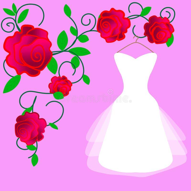 Web. Vector fashion illustration. Girl in wedding dress. Bride royalty free illustration