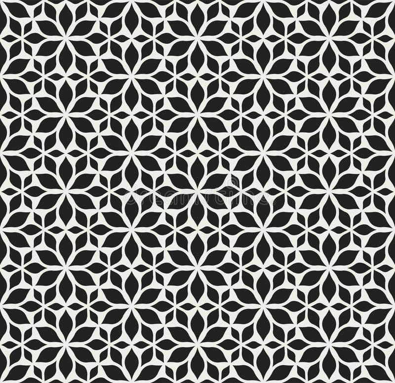 Seamless Arabesque Floral Pattern. Art Deco Style Background. Vector Abstract Flower Texture. Classic Art Deco Seamless Pattern. Geometric Stylish Texture royalty free illustration