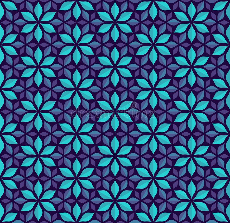 Seamless Arabesque Floral Pattern. Art Deco Style Background. Vector Abstract Flower Texture. Classic Art Deco Seamless Pattern. Geometric Stylish Texture stock illustration
